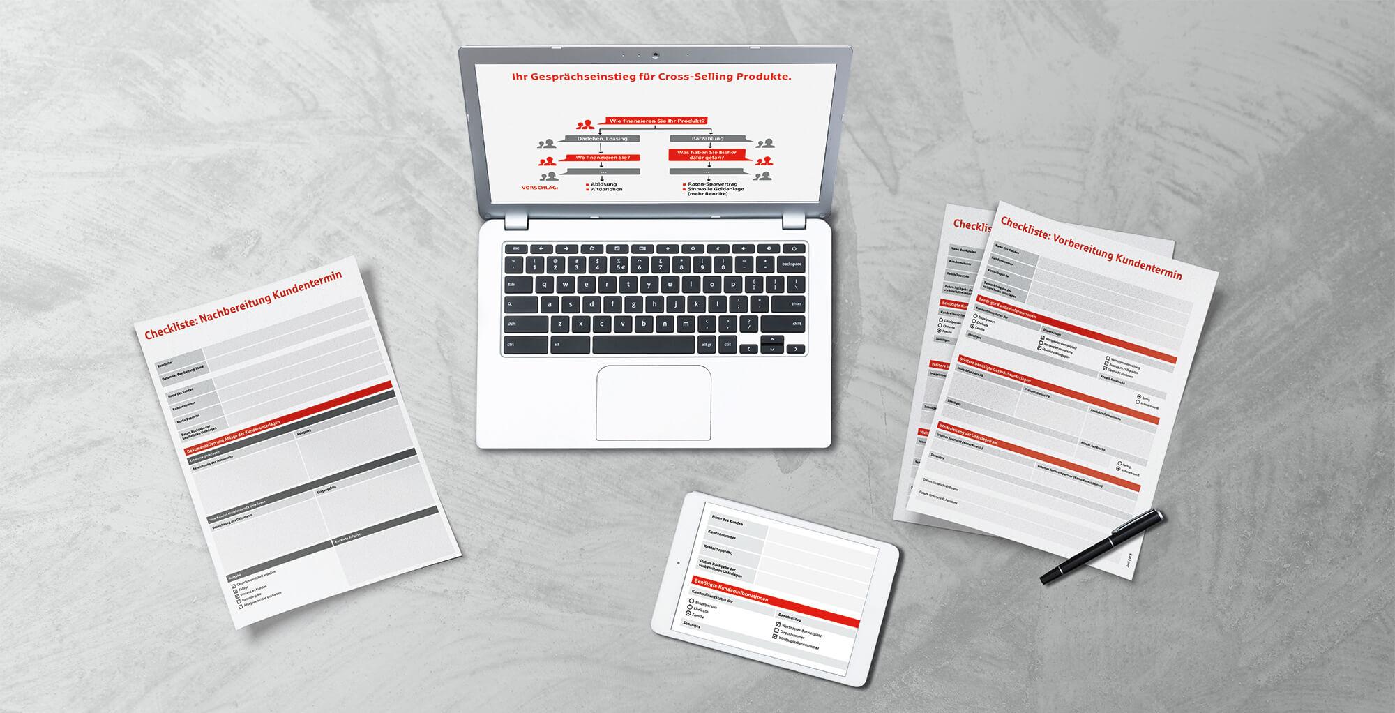 Gestaltungsbeispiel für den Bereich Vertriebsunterstützung / Aufbereitung von Beratermedien